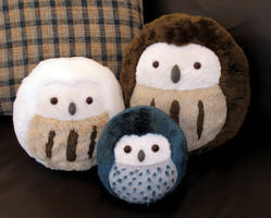 Plush Owls - All three sizes by demiveemon