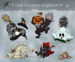 Updated - Feline Halloween adoptables Auction OPEN by demiveemon