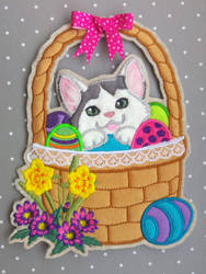 Easter basket with kitten - Fighter by demiveemon
