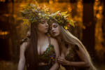 Elven Sisters. by LucreciaMortishia
