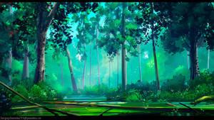 Forest swamp by SergeySavvin
