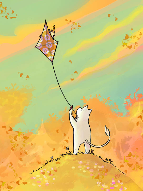 Flying a Kite by Agina