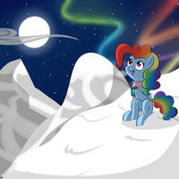 Even the night sky can have a rainbow... by Terra-Aquis