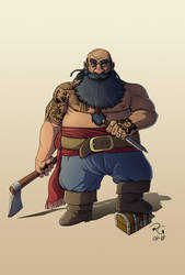 Dwarf Pirate by Lord-Leafar