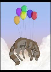 Floating By Balloon by Ellunas