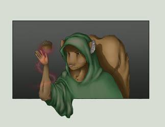 A Sorcerer and his Acorn by Ellunas