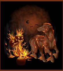The Fiery Steed by Ellunas