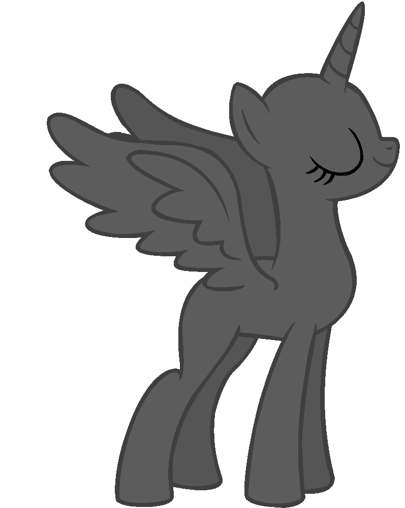 Drawing Mlp Alicorn Base Wwwtollebildcom