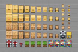 Sprites of Cubes by skeddles