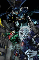 Batman and Robin vs.Mr. Freeze by Jeff-Drylewicz