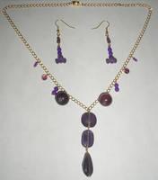Purple Stones N + E Set by Rad1986