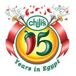 chili's 15 years logo by marwael