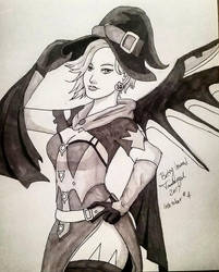 Inktober 2017 Day Four - Overwatch by Tambergal