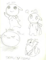 Nemu Nemu Sketch by miidori-ozzaki143