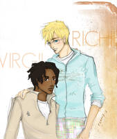 Virgil, Richie in springwear by radishface