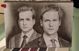 Harvey Specter and Mike Ross by aurormish