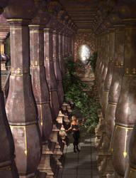 Amid the Columns by Asdaricus