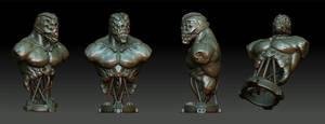 cyborg bust final by OmrZrn