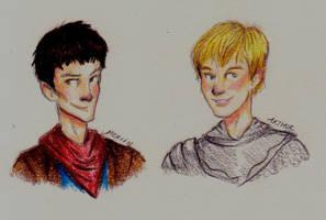 Merlin and Arthur by dancinghamtoro