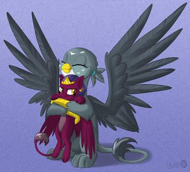 Sphinxy hugs by Sirzi