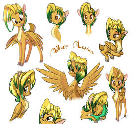 Windy Leaves: colored sketches by Sirzi