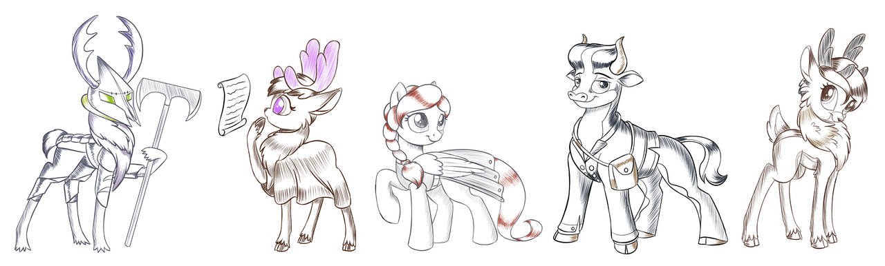Five characters by Sirzi