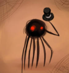 Spider - Daddy Longlegs by LaughingSkeleton