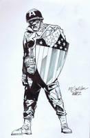 Captain America Inks by AlonsoNunez
