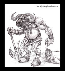 Beheaded by Minotaur by smashy-bone