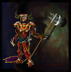 lanky knight by smashy-bone
