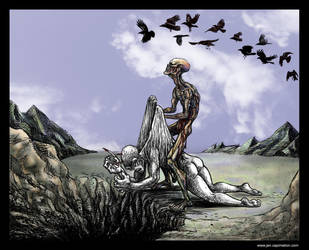 A Murder of Crows by smashy-bone