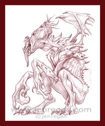 Ugly Demon by smashy-bone
