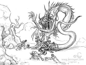 Snake Monster by smashy-bone