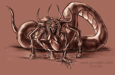 another snake monster by smashy-bone