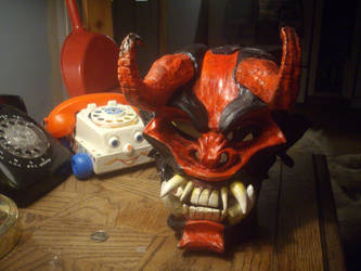 Cast polyurethane resin monster mask by smashy-bone