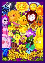 Sunflowers and Friends by BatmanPortal14