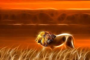Lion - Sunset 1 by m3-k3