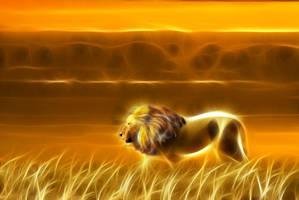 Lion - Sunset 2 by m3-k3