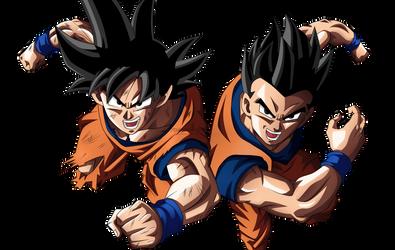 Goku and Gohan (Father and Son) by JoakoGamer