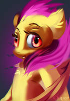 Flutterbat portrait by Chipce