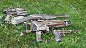 Steampunk guns by tawnie8376