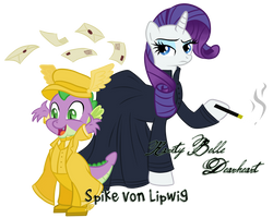 Spike von Lipwig and Rarity Belle Dearheart by Mother-of-Trolls