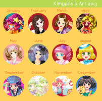 2013 Art Review by kimgabydesu