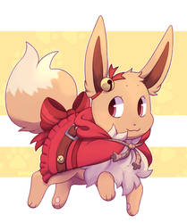 Jumping Eevee by Sosoyeuse