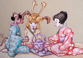 AIJ - Tea Party by Zeria-chan