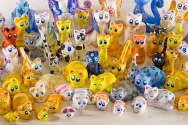 Many Kitties by kaikaku