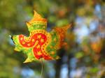 Stars and Swirls Leaf by kaikaku