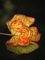 Chipmunk leaf by kaikaku