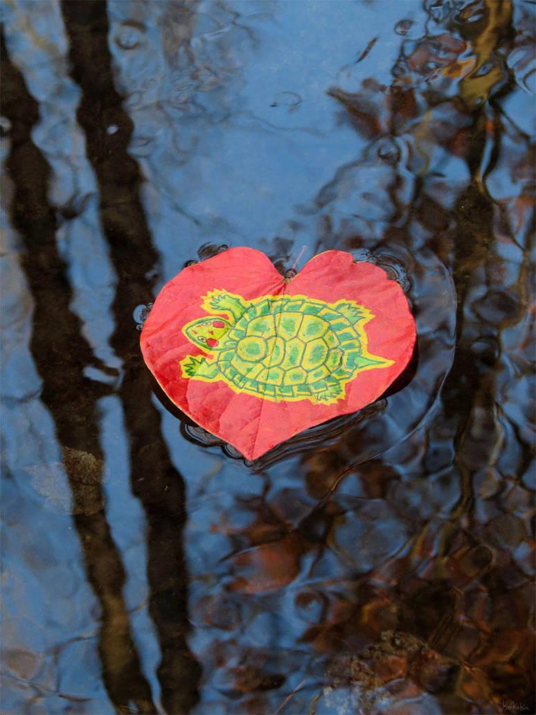 Red Ear Slider leaf by kaikaku