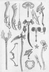 Loads of weapons by MikeSinner